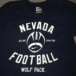 Nike S navy blue college T-shirt